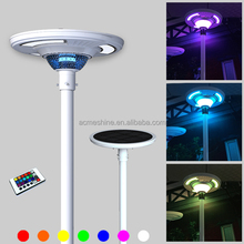 Solar Street Light Specification Landscape Lighting with RGB Color Solar Led Street Light Manufactures with Remote Control