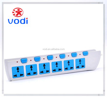 6 gang electric extension outlet individual switch 6 Outlet Multi-functional Power Strip Extension Switch With Socket