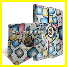 camouflage pattern desgin 360 degree rotating case stand for ipad 4 ipad 3 ipad 2 leather material smart cover with magnetic