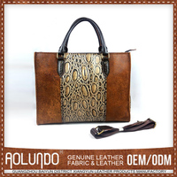 Hot Sales Custom Made Geniune Leather Women Handbags