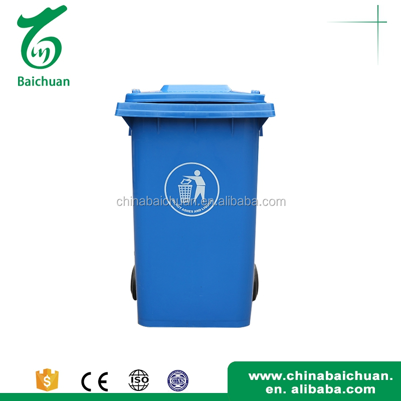 Plastic Push open double kitchen trash can with cheap sale price