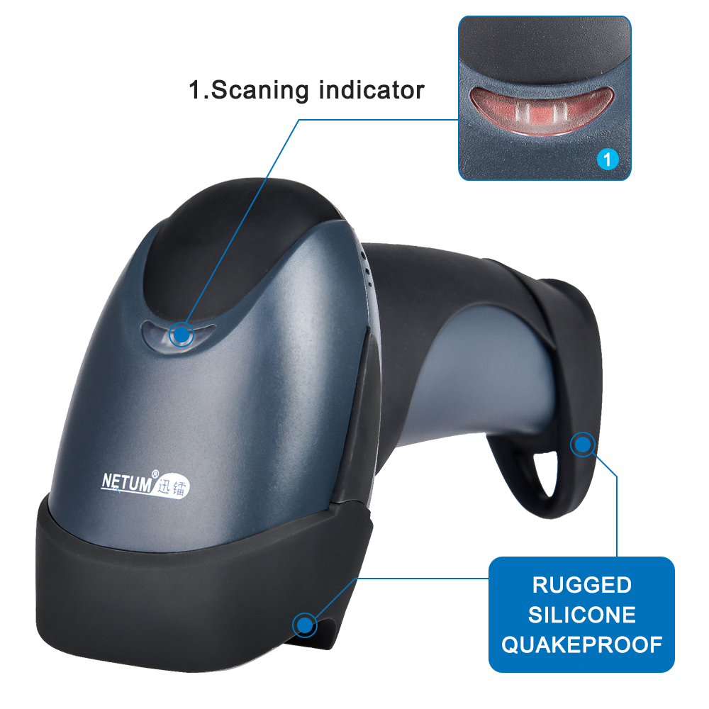 nt-m1 cheap price wired 1d handheld barcode scanner plug and play wired laser scanner