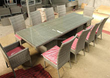 Extra large 10 seater poly rattan table and wicker chairs outdoor garden dining set