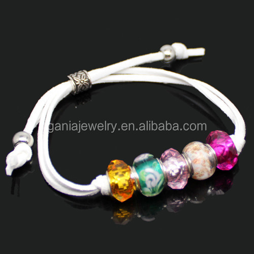 Wholesale Costume Jewelry Bracelets, European Murano Glass Bead Summer Bracelets for Girls