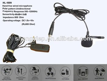 HT-1009 Hand-free wired Lavalier microphone
