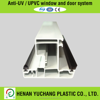 Interior PVC Door Plastic Steel Profiles With Rubber Glazing Beads