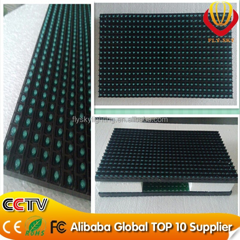 Alibaba led screen P10 led panel P10 high resolution led matrix display module yellow running text led sign replacement parts
