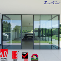 High quality aluminium profile double sided sliding door pocket door slide
