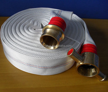Rubber lining fire fighting hose with British copper hose connector