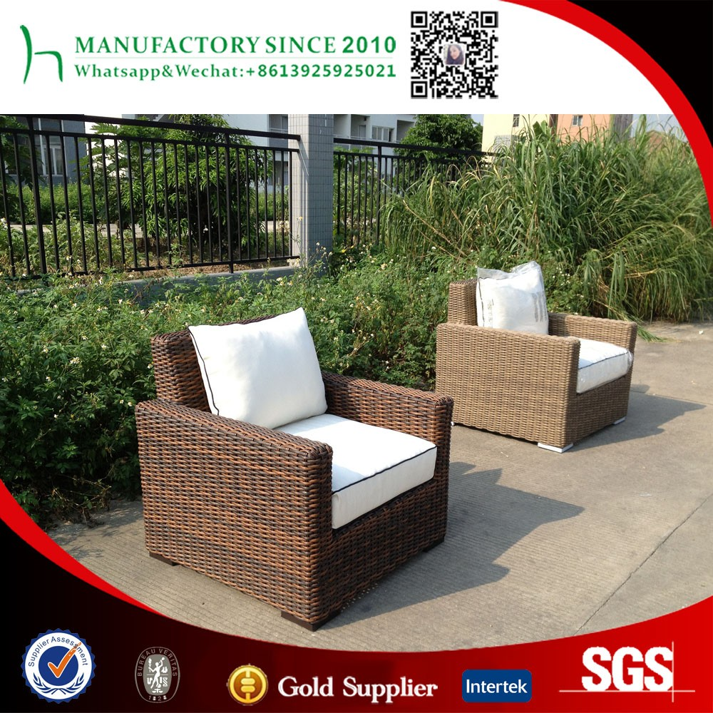 All weather resin wicker single sofa big size american style leisure sofa