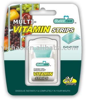 Sugar Free MultiVitamin Refresh Breath mint strip