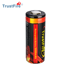 Trustfire original rechargeable 3.7V li ion button top 5000mah hgh capacity lithium battery