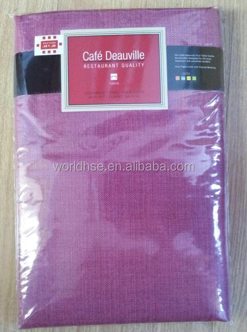 Promotional Flannel Back Plastic Tablecloths