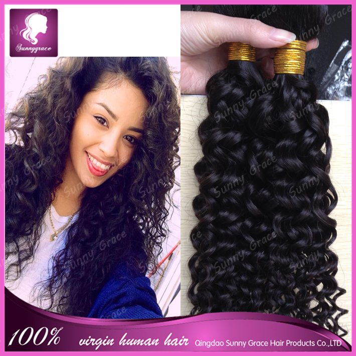 Alibaba express in spanish unprocessed hair weft natural black curly wholesale grey hair 130% heavy density for black women
