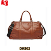 Brown mens leather duffle bag genuine leather travel bag