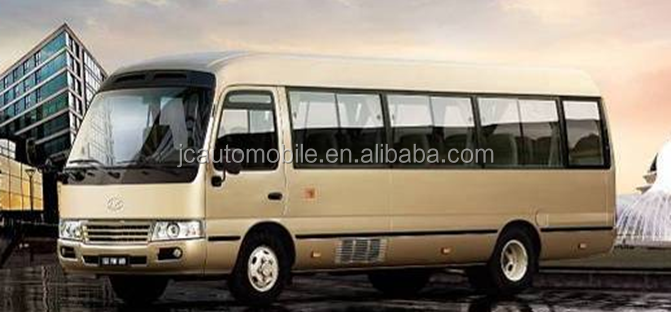 Hot selling model 26 seats coaster small bus with discount price