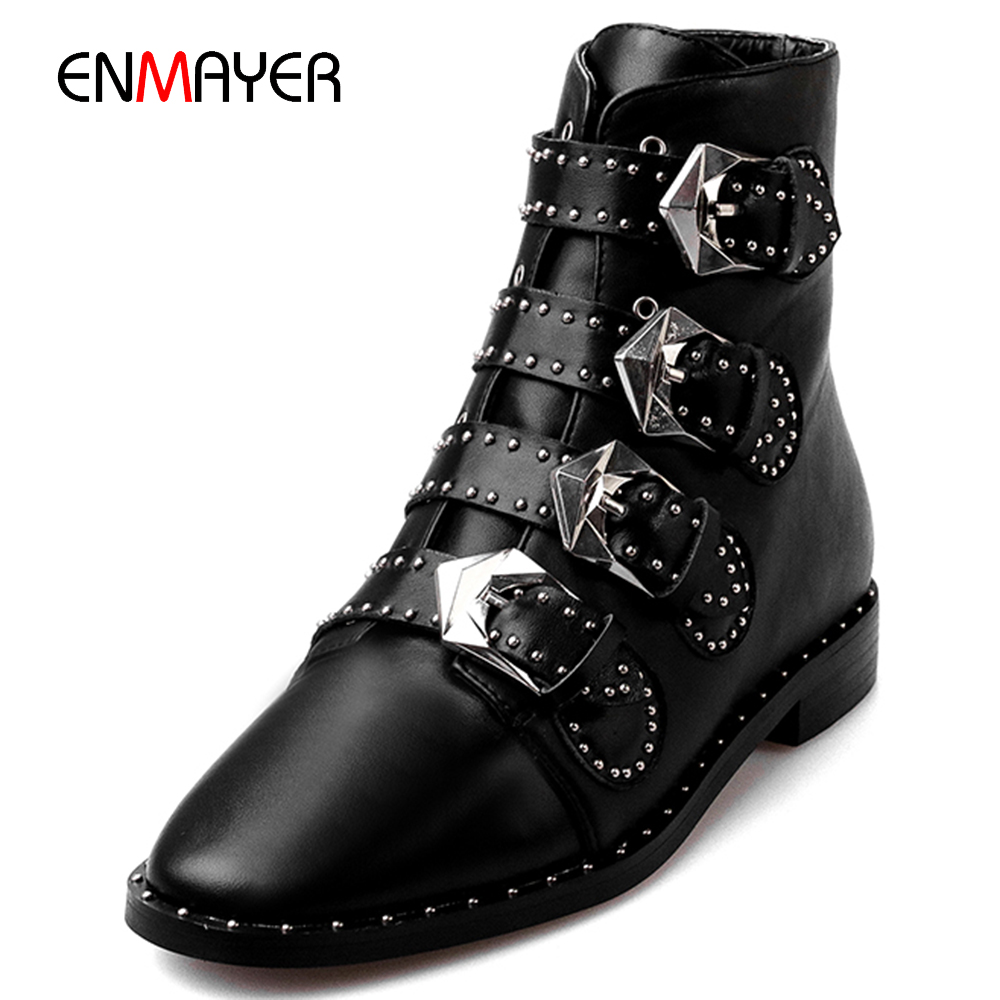 Italian fashion cow leather most beautiful buckle women winter <strong>boots</strong>