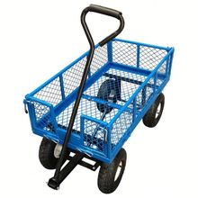 steel mesh deck decorative trolley cart