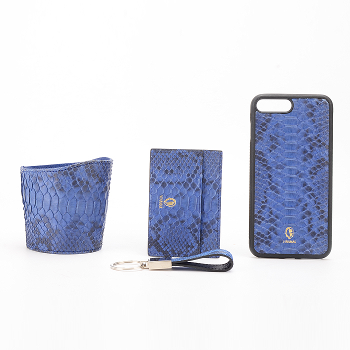 Card Holder In Crocodile Embossed Leather