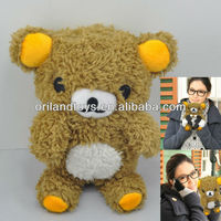 Best Quality Brown Bear Plush Toy Case for iPhone 5 and iPhone 4s