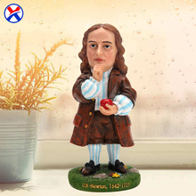 Custom resin souvenir craft statue polyresin Newton figurine for home decoration