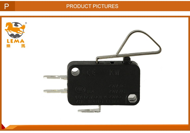 Factory directly sale KW7-4 pin plunger lever type actuator micro switch