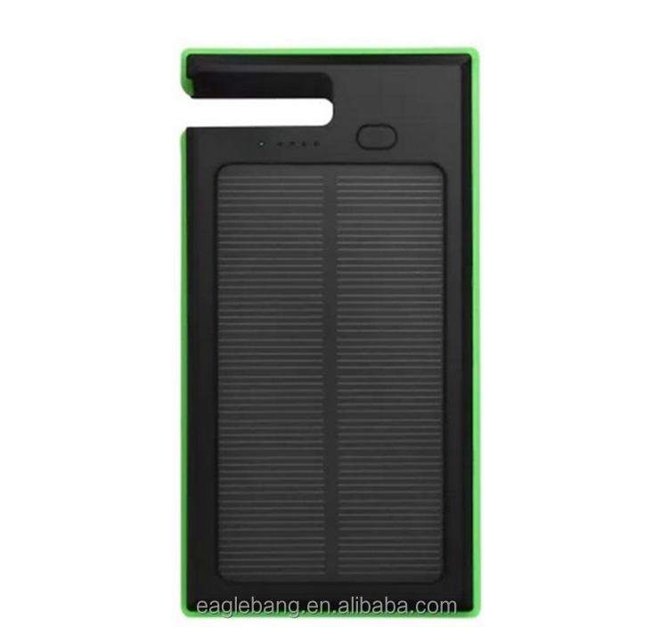 2016 Wholesale Waterproof Solar Powerbank 10000mAh Outdoor Solar charger with Led Light