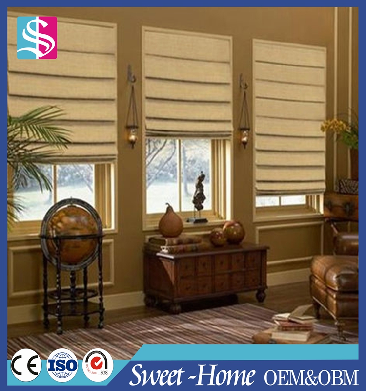 Modern classic roman window curtain and blinds fabric
