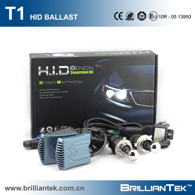 Unique Patent Design Strong CANBUS Slim Ballast 6000k 8000k Hi/Lo Beam H4 H13 35w 55w Xenon HID Head Light Kit