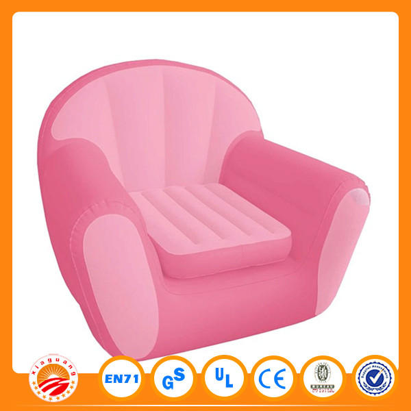 Popular transparent single and double sofa inflatable sofa pink