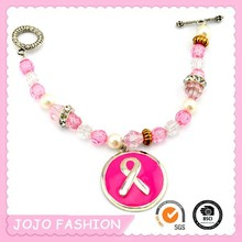 Chinese beaded breast cancer bracelet for sale