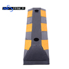Flexible black road caution rubber wheel stopper for car parking