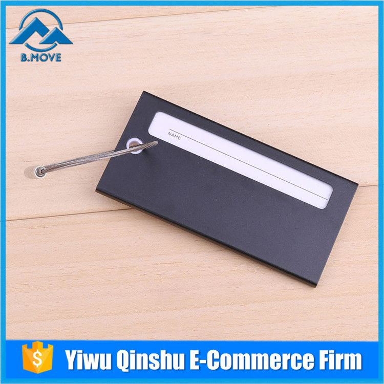 New coming simple design reusable luggage tag from manufacturer