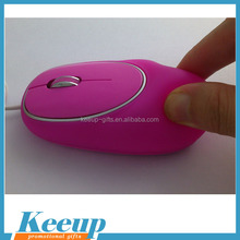 Branding soft silicone wireless/wired optical mouse for advertising