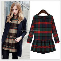 monroo women fall latest long sleeve check China dresses