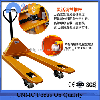 Brand New Hydraulic Pump AC Manual Pallet Truck 2000kg Hand Operated Forklift