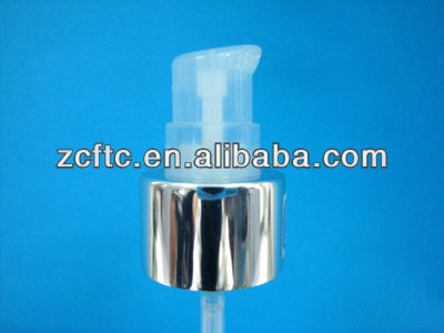 Aluminum closure pump for face cream, face cleasing pump