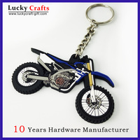 Hot Sale PVC Material Custom Motorcycle Shape Keychain