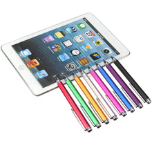 Brand New 8 colors 12.5cm Fine Point Round Thin Tip Capacitive Stylus Pen For iPad 2/3/4/5/air/min