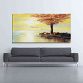 Sunset Landscape Designs Canvas Painting for Living Room