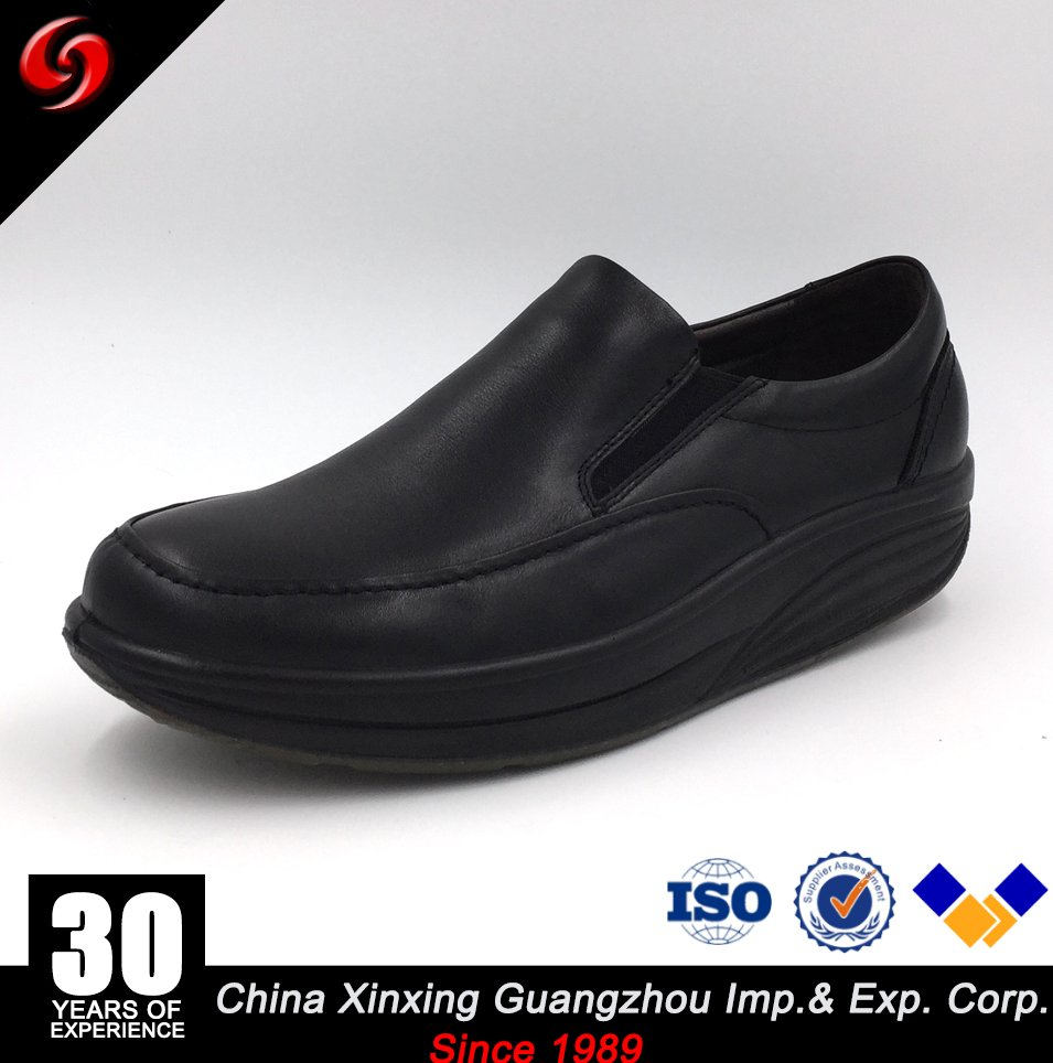 China Xinxing Officer Loafer Style Military Men Rubber Outsole Comfortable Leather Shoes for Army
