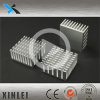 Aluminum heat sink manufacturers for electroinc devices 25X25X12MM