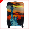 New York Travel abs pc printed the Statue of Liberty luggage