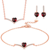 Garnet-Necklace/Earrings/Bracelet