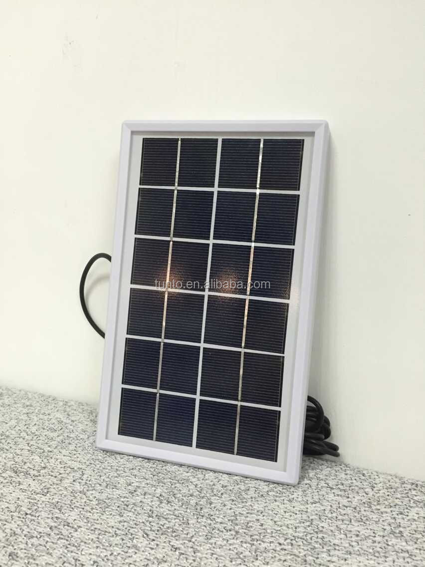 White Solar LED lantern with 4000mah battery,AC charger,USB charger and poly solar panel