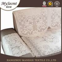 Hot sale 100% polyester ikea sofa cover and indian lace sofa back cover