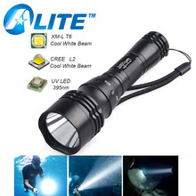Waterproof High Power 1200LM LED Scuba Diving Flashlight 18650 Diving Torch