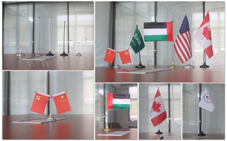 Durable table top flag stand desk flag