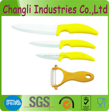 vegetable set of ceramic knives and peeler