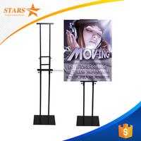Telescopic Floor Standing Pop Up Display , Metal Display Stand